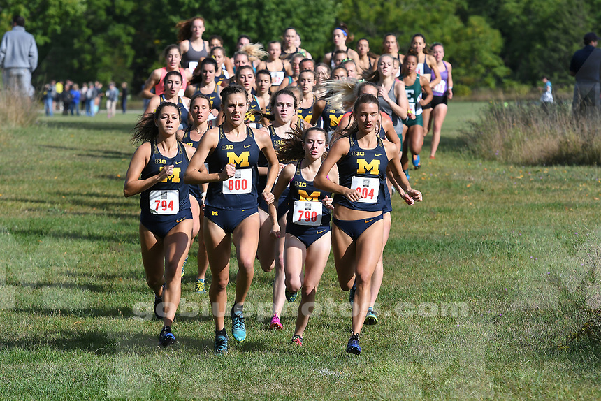 Michigan Women's Cross Country in action at Michigan Open, Hudson Mills Metropark, Friday, September 1, 2017.