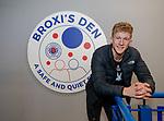 05.04.2018 Ross McCrorie marks the 1 year anniversary of Broxi's Den at Ibrox Stadium