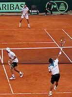 Italy's Fabio Fognini during their Davis Cup quarter-final doubles tennis match against Britain  in Naples April 5, 2014.