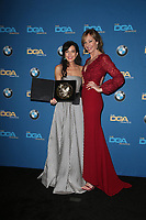 BEVERLY HILLS, CA - FEBRUARY 3: Reed Morano and Allison Janney in the press room at the 70th Annual DGA Awards at The Beverly Hilton Hotel in Beverly Hills, California on February 3, 2018. <br /> CAP/MPI/FS<br /> &copy;FS/MPI/Capital Pictures