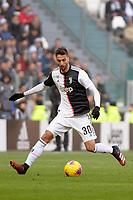 2nd February 2020; Allianz Stadium, Turin, Italy; Serie A Football, Juventus versus Fiorentina; Rodrigo Bentancur of Juventus on the ball