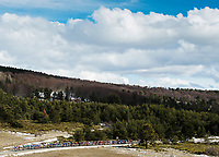 Picture by Alex Broadway/SWpix.com - 08/03/2018 - Cycling - 2018 Paris Nice - Stage Five -  Salon-De-Provence to Sisteron - The peloton rides through the French countryside.<br /> <br /> NOTE : FOR EDITORIAL USE ONLY. THIS IS A COPYRIGHT PICTURE OF ASO. A MANDATORY CREDIT IS REQUIRED WHEN USED WITH NO EXCEPTIONS to ASO/Alex Broadway MANDATORY CREDIT/BYLINE : ALEX BROADWAY/ASO