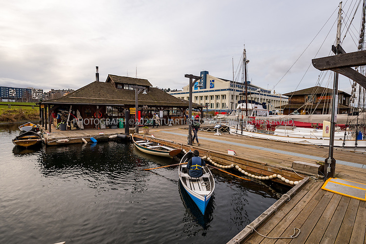 2/6/2016 &mdash; Lake Union, Seattle, WA<br /> <br /> The Center for Wooden Boats on Seattle&rsquo;s Lake Union, in the South Lake Union neighborhood.<br /> <br /> Photograph by Stuart Isett<br /> &copy;2015 Stuart Isett. All rights reserved.