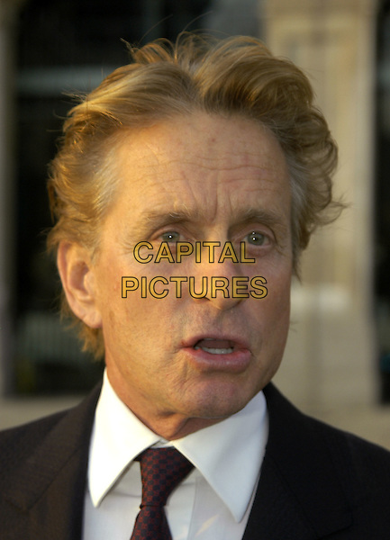 MICHAEL DOUGLAS.Attends the Fortune Forum Sumit, Old Billinsgate Market, London, England, September 26th 2006..portrait headshot funny face mouth open.Ref: IA.www.capitalpictures.com.sales@capitalpictures.com.©Ian Allis/Capital Pictures