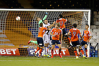 Christian Walton of Luton Town in the Luton Town goal cannot prevent the Newport County equalising goal to make it 1-1 during the Sky Bet League 2 match between Luton Town and Newport County at Kenilworth Road, Luton, England on 16 August 2016. Photo by David Horn.