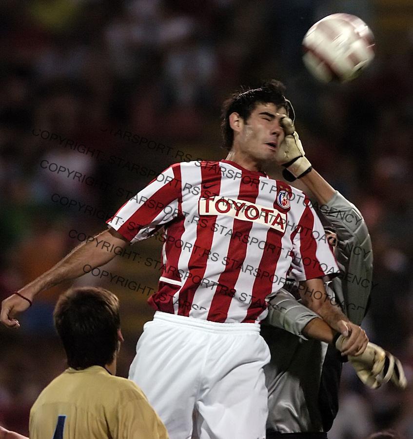 SPORT FUDBAL CRVENA ZVEZDA SOCCER RED STAR FOOTBALL TRAINING GAME RAD Purovic Milan foto: Pedja Milosavljevic<br />