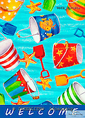 Ingrid, MODERN, MODERNO, paintings+++++,USISNL01W1A,#N#.beach buckets,seastars,holidays ,everyday