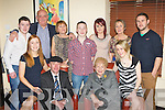 Julie Healy Rae, Kilgarvan who celebrated her birthday with her family in Lord Kenmare's restaurant on Saturday night, front row l-r: Julie, Michael, Julie, Juliet. Back row: Jack, John, Eileen, Kevin, Rosie, Mary and Ian Healy-Rae..