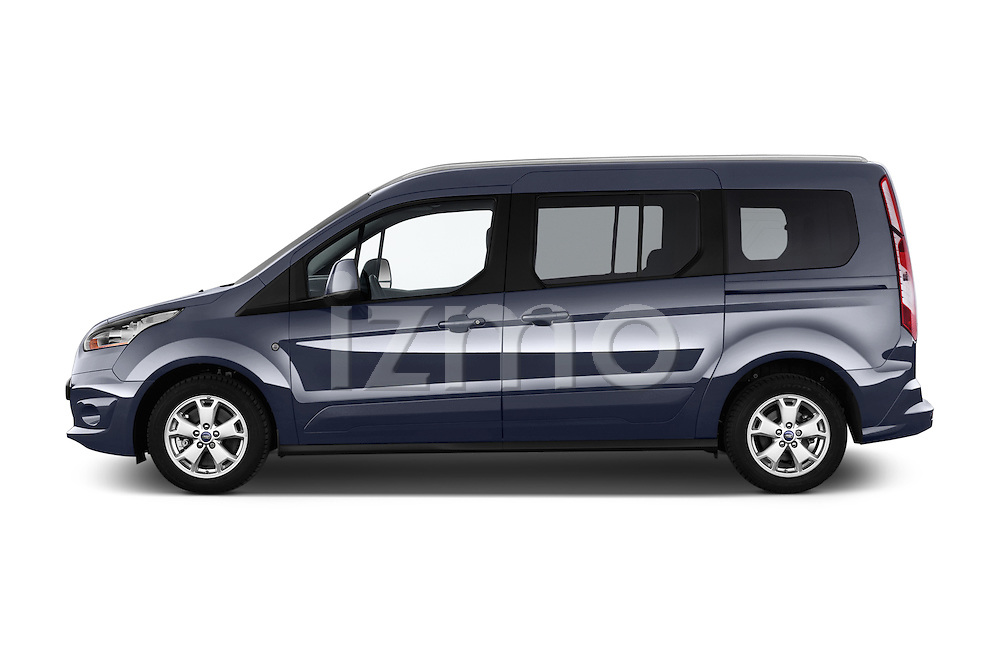 Car Driver side profile view of a 2015 Ford Grand Tourneo Connect Titanium 5 Door Minimpv Side View