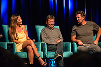 "Coolangatta, Queensland (Thursday, August 2 2018):  Lyndie Irons (HAW), Flim makers Steve Jones  (USA) and Enich Harris (USA). - The Gold Coast Premier of the Andy Irons: Kissed by God  movie was held last night at Twin Towns Resort with over a 1000 people in attendance including Joel Parkinson, Occy, Mick Fanning and Lyndie Irons. Kissed by God is a film about bipolar disorder and opioid addiction as seen through the life of three-time world champion surfer Andy Irons. Andy struggled with the same demons that millions of people worldwide battle with daily. Andy was an incredible presence on the world stage as the ""People's Champion."" He was the pride of Hawaii and revered around the world for his blue-collar rise to fame and success. However, many were unaware of the internal battles that led to his demise. As the opioid crisis rises to a national emergency in the United States and around the world, the untold story of Andy's life serves to tear down the myths associated with these two ferocious diseases.<br /> <br /> This film is produced by Teton Gravity Research and is brought to Australia in partnership with Surfing World Magazine<br /> Photo: joliphotos.com"