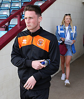 Blackpool's Jordan Thompson arrives at Glanford Park<br /> <br /> Photographer David Shipman/CameraSport<br /> <br /> The EFL Sky Bet League One - Scunthorpe United v Blackpool - Friday 19th April 2019 - Glanford Park - Scunthorpe<br /> <br /> World Copyright © 2019 CameraSport. All rights reserved. 43 Linden Ave. Countesthorpe. Leicester. England. LE8 5PG - Tel: +44 (0) 116 277 4147 - admin@camerasport.com - www.camerasport.com
