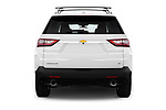 Straight rear view of 2018 Chevrolet Traverse 1LT 5 Door SUV Rear View  stock images
