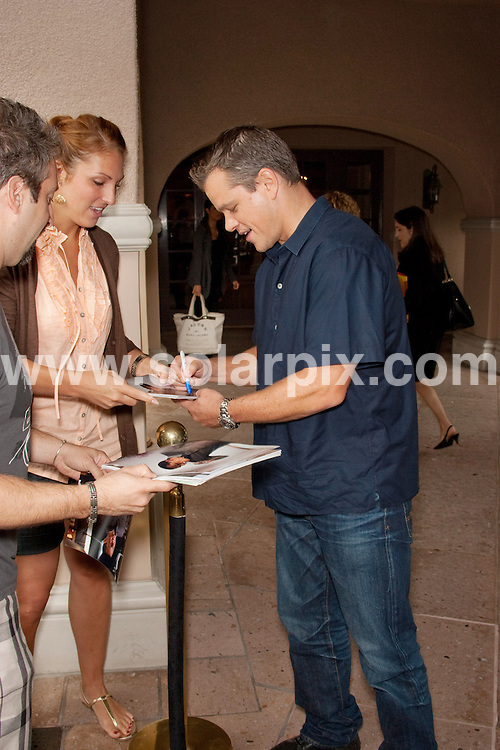 **ALL ROUND PICTURES FROM SOLARPIX.COM**.**SYNDICATION RIGHTS FOR UK, AUSTRALIA, DENMARK, PORTUGAL, S. AFRICA, SPAIN & DUBAI (U.A.E) ONLY**.2009 Cable's Summer Press Tour at The Langham Huntington Hotel and Spa, Pasadena, CA, USA. 29 July 2009..This pic: Matt Damon..JOB REF: 9637 PHZ (Hatcher)   DATE: 29 July 2009.**MUST CREDIT SOLARPIX.COM OR DOUBLE FEE WILL BE CHARGED**.**MUST NOTIFY SOLARPIX OF ONLINE USAGE**.**CALL US ON: +34 952 811 768 or LOW RATE FROM UK 0844 617 7637**