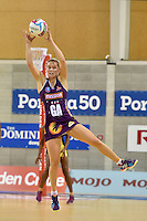 Amy Wild in action during the ANZ Championship - Mojo Pulse v Queensland Firebirds at Te Rauparaha Arena, Porirua, New Zealand on Sunday 8 March 2015. <br /> Photo by Masanori Udagawa. <br /> www.photowellington.photoshelter.com.