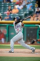 Kristopher Negron (11) of the Reno Aces bats against the Salt Lake Bees in Pacific Coast League action at Smith's Ballpark on June 15, 2017 in Salt Lake City, Utah. The Aces defeated the Bees 13-5. (Stephen Smith/Four Seam Images)