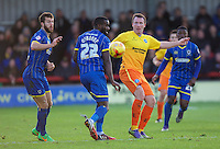 Garry Thompson of Wycombe Wanderers during the Sky Bet League 2 match between AFC Wimbledon and Wycombe Wanderers at the Cherry Red Records Stadium, Kingston, England on 21 November 2015. Photo by Alan  Stanford/PRiME.