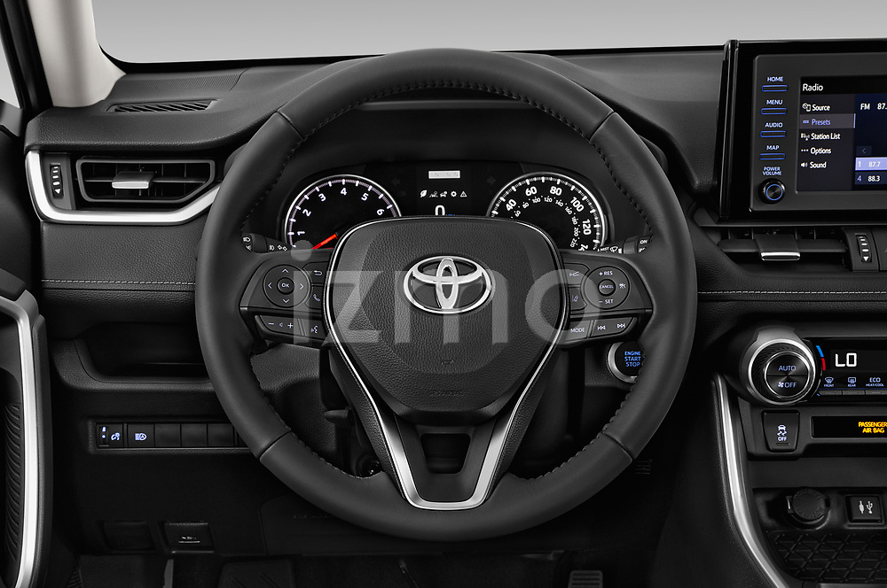 Car pictures of steering wheel view of a 2019 Toyota RAV4 XLE Premium 5 Door SUV