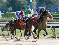 Scenes from around Saratoga Race Course, Sept 4.  Enticed (No. 1) wins the first race. Ridden by Junior Alvarado and trained by Kiaran McLaughlin.   (Bruce Dudek/Eclipse Sportswire)