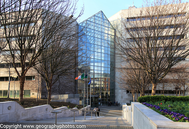 Modern architecture of Dublin City Council Civic Offices building, Dublin, Ireland, Republic of Ireland