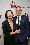 Celeste Den and husband attend the Broadway Opening Night After Party for 'M. Butterfly' on October 26, 2017 at Red Eye Grill in New York City.