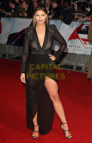 LONDON, ENGLAND - Ferne McCann at the European Premiere of Batman v Superman - the Dawn of Justice, Odeon Leicester Square, London on March 22nd 2016<br /> CAP/ROS<br /> &copy;Steve Ross/Capital Pictures
