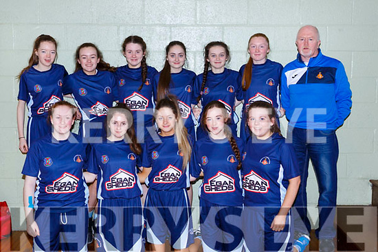 Team Kerry Cobras who played Gneeveguilla in the Lee Strand u16 Div 2 final in Killarney on Sunday front row l-r: