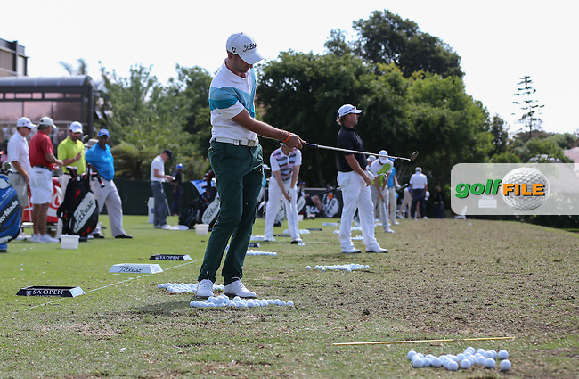Seve Benson (ENG) on the driving range during the practice day at the SA Open Championship 2013 at the Glendower Golf Club, Johannesburg, South Africa. Picture:  David Lloyd / www.golffile.ie