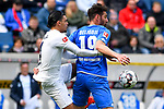 14.04.2019, PreZero Dual Arena, Sinsheim, GER, 1. FBL, TSG 1899 Hoffenheim vs. Hertha BSC Berlin, <br /> <br /> DFL REGULATIONS PROHIBIT ANY USE OF PHOTOGRAPHS AS IMAGE SEQUENCES AND/OR QUASI-VIDEO.<br /> <br /> im Bild: Karim Rekik (Hertha BSC Berlin #4) gegen Ishak Belfodil (TSG Hoffenheim #19)<br /> <br /> Foto © nordphoto / Fabisch