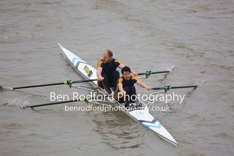 Crew: 204  DUR-FORSTER  Durham Amateur Rowing Club  Mx MasB/C 2x<br /> <br /> Pairs Head 2018<br /> <br /> To purchase this photo, or to see pricing information for Prints and Downloads, click the blue 'Add to Cart' button at the top-right of the page.
