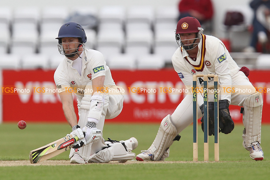 James Foster plays the reverse sweep for Essex - Northamptonshire CCC vs Essex CCC - LV County Championship Division Two Cricket at The County Ground, Northampton - 09/06/12 - MANDATORY CREDIT: Gavin Ellis/TGSPHOTO - Self billing applies where appropriate - 0845 094 6026 - contact@tgsphoto.co.uk - NO UNPAID USE.