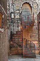 Spiral stairs, Mehrangarh Fort, Jodhpur, India.