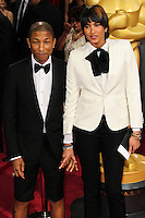 HOLLYWOOD, LOS ANGELES, CA, USA - MARCH 02: Pharrell Williams, Helen Lasichanh at the 86th Annual Academy Awards held at Dolby Theatre on March 2, 2014 in Hollywood, Los Angeles, California, United States. (Photo by Xavier Collin/Celebrity Monitor)