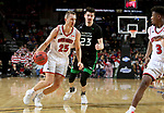 SIOUX FALLS, SD - MARCH 8: Tyler Hagedorn #25 of the South Dakota Coyotes drives to the paint against the North Dakota Fighting Hawks at the 2020 Summit League Basketball Championship in Sioux Falls, SD. (Photo by Dave Eggen/Inertia)