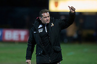 Newport County manager Graham Westley ahead of the Sky Bet League 2 match between Newport County and Wycombe Wanderers at Rodney Parade, Newport, Wales on 22 November 2016. Photo by Mark  Hawkins.