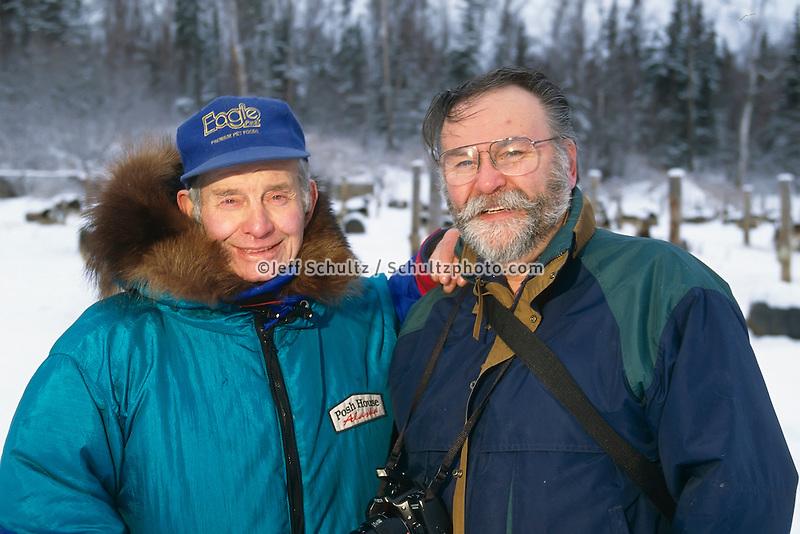 Joe Redington Sr & Friend Knik Sc Ak Winter Portrait