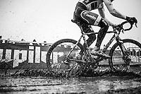 Wietse Bosmans (BEL/Beobank-Corendon) splashing about<br /> <br /> CX Superprestige Noordzeecross <br /> Middelkerke / Belgium 2017