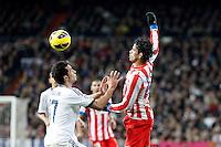Alvaro Arbeloa and Diego Costa during La Liga Match. December 01, 2012. (ALTERPHOTOS/Caro Marin)