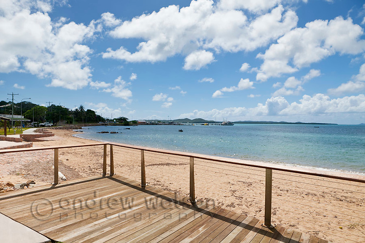 View along the Victoria Parade foreshore.  Thursday Island, Torres Strait Islands, Queensland, Australia