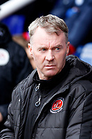 Fleetwood Town manager, John Sheridan seen during the Sky Bet League 1 match between Peterborough and Fleetwood Town at London Road, Peterborough, England on 28 April 2018. Photo by Carlton Myrie.