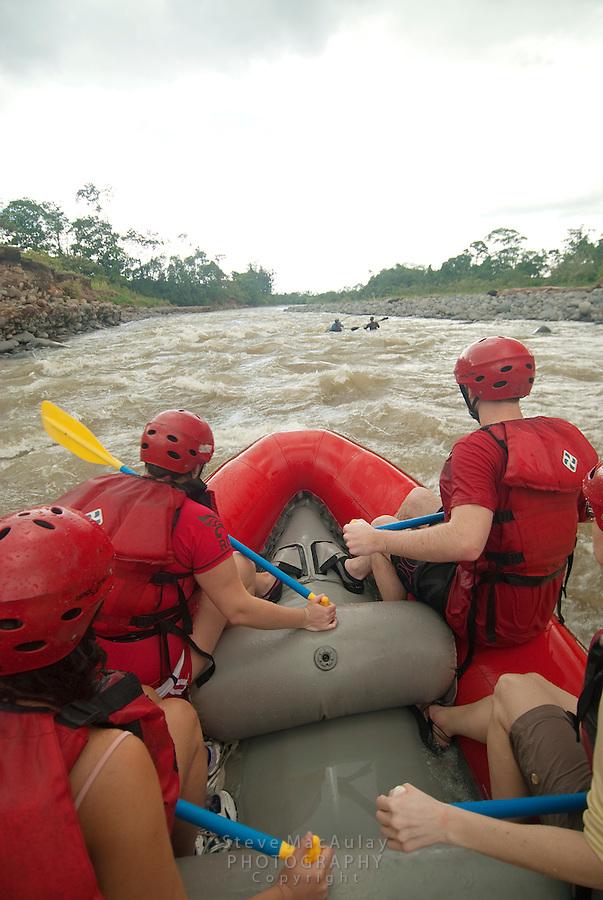 River rafting on the Rio Toro, Costa Rica