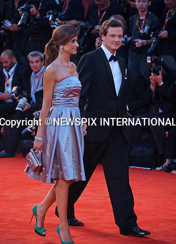 """COLIN FIRTH AND LIVIA GIUGGIOLI.at the 68th Venice Film Festival,Venice, Italy_05/09/2011.Mandatory Credit Photo: ©Massimo/NEWSPIX INTERNATIONAL..**ALL FEES PAYABLE TO: """"NEWSPIX INTERNATIONAL""""**..IMMEDIATE CONFIRMATION OF USAGE REQUIRED:.Newspix International, 31 Chinnery Hill, Bishop's Stortford, ENGLAND CM23 3PS.Tel:+441279 324672  ; Fax: +441279656877.Mobile:  07775681153.e-mail: info@newspixinternational.co.uk"""