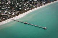Scenic flight over Naples historic fishing pier and Marco Island along Gulf of Mexico, Florida, USA. Photo by Debi Pittman Wilkey