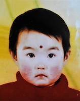 Han Xinxin (2), borin in 1999. Missing at her neighborhood, East of Zhengda Residential Quater on 14 Mar 2001 .   Girls in China are increasingly targeted and stolen as there is a shortage of wives as the gender imbalance widens with 120 boys for every 100 girls..PHOTO BY SINOPIX