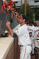 Jeremy Farrell of the Virginia Cavaliers vs. the Miami Hurricanes:  March 24th, 2007 at Davenport Field in Charlottesville, VA.  Photo By Mike Janes/Four Seam Images