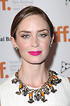 Emily Blunt attending the The 2012 Toronto International Film Festival Red Carpet Arrivals for 'Arthur Newman' at the Elgin Theatre in Toronto on 9/10/2012