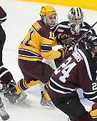 Sam Warning (MN - 11), Colin Stevens (Union - 30) - The Union College Dutchmen defeated the University of Minnesota Golden Gophers 7-4 to win the 2014 NCAA D1 men's national championship on Saturday, April 12, 2014, at the Wells Fargo Center in Philadelphia, Pennsylvania.
