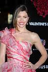 """HOLLYWOOD, CA. - February 08: Jessica Biel arrives at the """"Valentine's Day"""" Los Angeles Premiere at Grauman's Chinese Theatre on February 8, 2010 in Hollywood, California."""