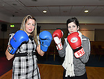 Luck Kerin and Katie Barrett pictured at the launch of St Mary's GFC white collar boxing. Photo:Colin Bell/pressphotos.ie