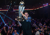 04.01.2015.  London, England.  William Hill PDC World Darts Championship.  Finals Night.  Gary Anderson (4) [SCO] lifts the Sid Waddell Trophy after beating Phil Taylor (2) [ENG] 7-6 in the final.