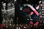 Elia Viviani (ITA), Defending Champion Christopher Froome (GBR) and Mauro Vegni Race Director at the Presentation of the Grand Start of the 102nd edition of the Giro d'Italia 2019 held in the RAI TV studios, Milan, Italy. 31st October 2018.<br /> Picture: LaPresse/Fabio Ferrari | Cyclefile<br /> <br /> <br /> All photos usage must carry mandatory copyright credit (&copy; Cyclefile | LaPresse/Fabio Ferrari)